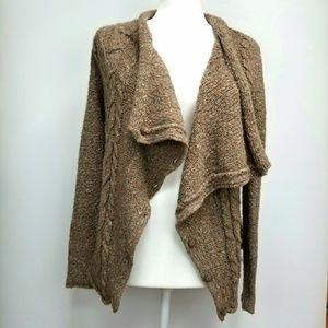 Anthropologie Kensie Chunky Knit Brown Sweater S